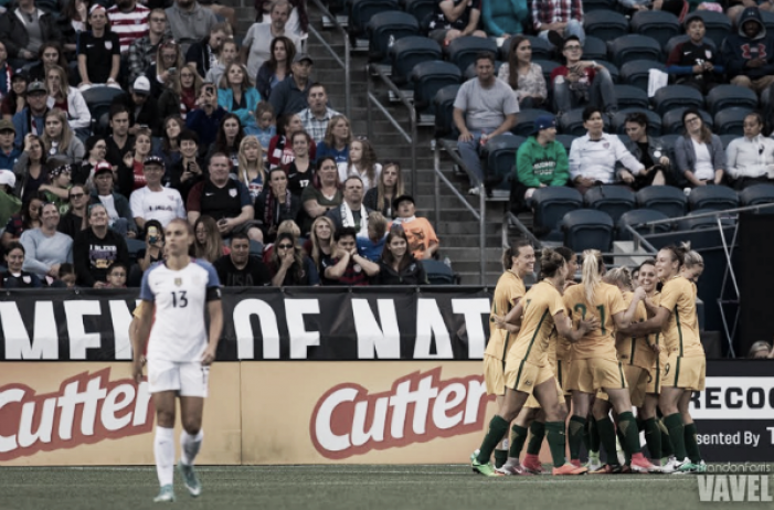 Frustration abounds as Australia defeats the USWNT for the first time 1-0