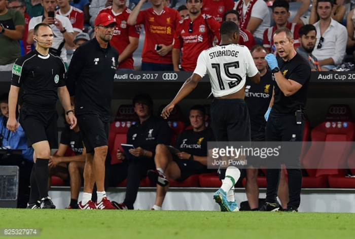 Daniel Sturridge ruled out of Liverpool's Audi Cup final against Atletico Madrid with thigh injury