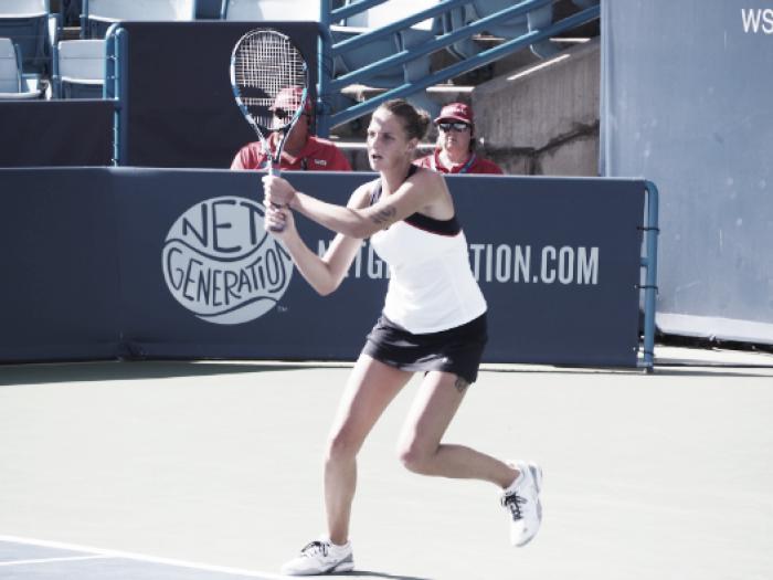 WTA Cincinnati: Karolina Pliskova rolls Caroline Wozniacki for second win of the day