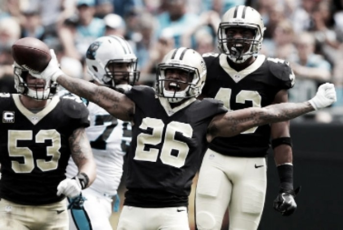 New Orleans Saints dismantle Carolina Panthers to claim first win