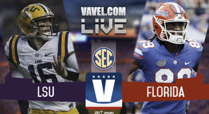 Score LSU Tigers vs. Florida Gators of 2017 SEC Football (17-16)