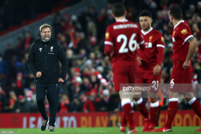 Jürgen Klopp hails Liverpool's calm and collectedness after coming from behind to beat Leicester