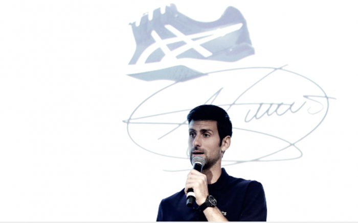Novak Djokovic signs with Asics footwear