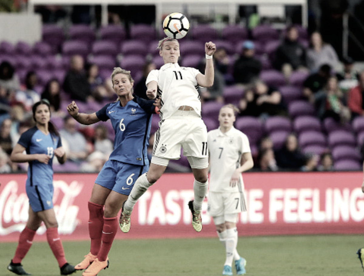 France dominates Germany 3-0 in SheBelieves Cup