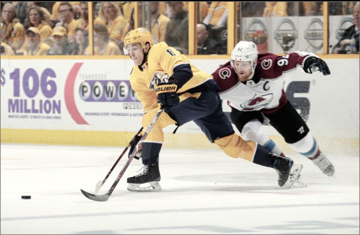 Nashville Predators overcome a late surge to defeat the Colorado Avalanche in Game 2