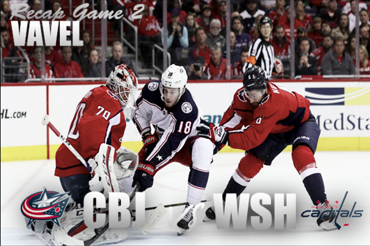 Blue Jackets take a commanding 2-0 series lead against the Washington Capitals