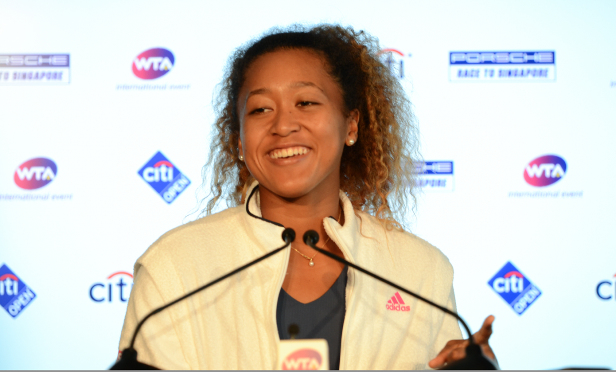 Naomi Osaka talks all things following her first-round win over Bernarda Pera