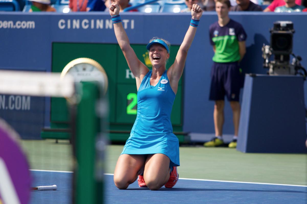 WTA Cincinnati: Kiki Bertens claims her biggest title after saving match point against Simona Halep
