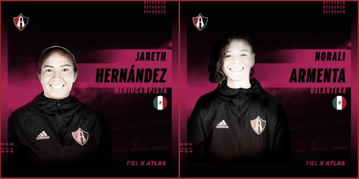 Tres incorporaciones para Atlas Femenil rumbo al Apertura 2019