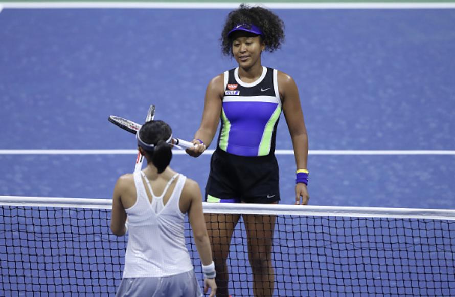 US Open: Naomi Osaka survives tricky opener against countrywoman Misaki Doi