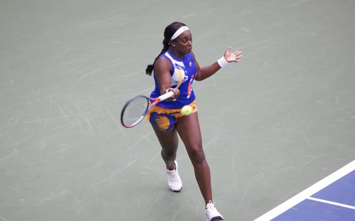 US Open: Sloane Stephens keeps her cool in victory over Olga Govortsova