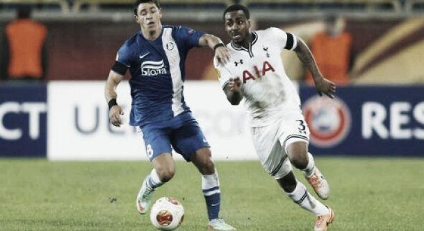 Em partida sonolenta, Dnipro vence Tottenham com pênalti duvidoso