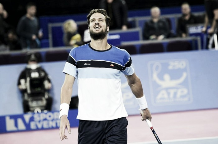 ATP Montpellier: Feliciano Lopez saves a match point en route to a three-set victory over Julien Benneteau
