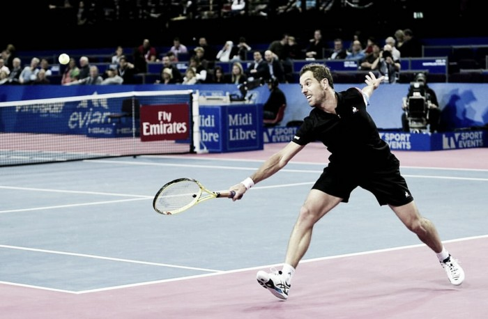 ATP Montpellier: Richard Gasquet progresses to the semifinal with a three-set win over Kenny De Schepper