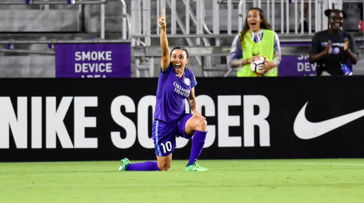 Orlando Pride score a late goal to top Washington Spirit