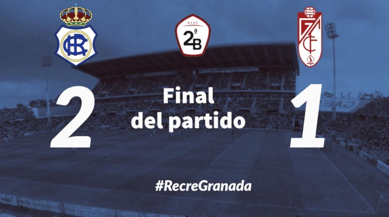 Recreativo de Huelva 2-1 Recreativo Granada: solo pudo ganar uno