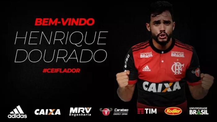 Flamengo anuncia a contratação de Henrique Dourado, ex-Fluminense