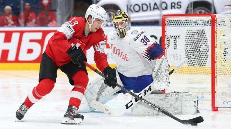 Switzerland keep their perfect record (Photo: Andre Ringuette / HHOF-IIHF IMAGES)