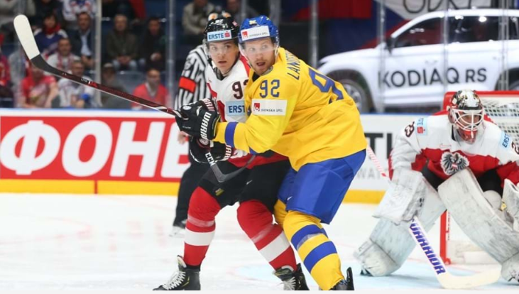 Sweden trampled Austria in Landeskog's first appearance of the tournament (Photo: Andre Ringuette / HHOF-IIHF IMAGES)