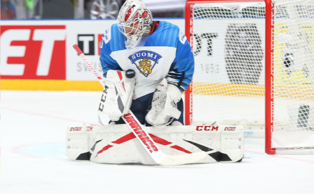 Kevin Lankinen managed to shut out the Russian stars (Andre Ringuette/HHOF-IIHF PHOTOS)