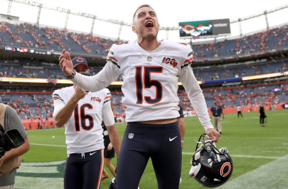 Quarterback Mitchell Trubisky Always Believed Kicker Eddy Pineiro Would Make Game-Winning Field Goal
