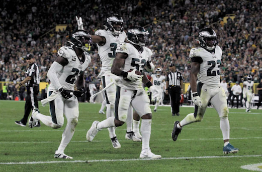 Philadelphia Eagles 34-27 Green Bay Packers: Rodgers Intercepted Late In Game As Eagles Hold On For Victory