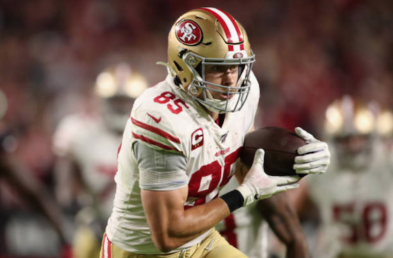 San Francisco 49ers Tight-End George Kittle Hoping to Play Against Green Bay Packers