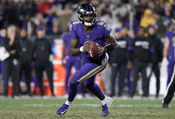 Baltimore Ravens 45-6 Los Angeles Rams: Jackson throws five touchdown passes during emphatic victory