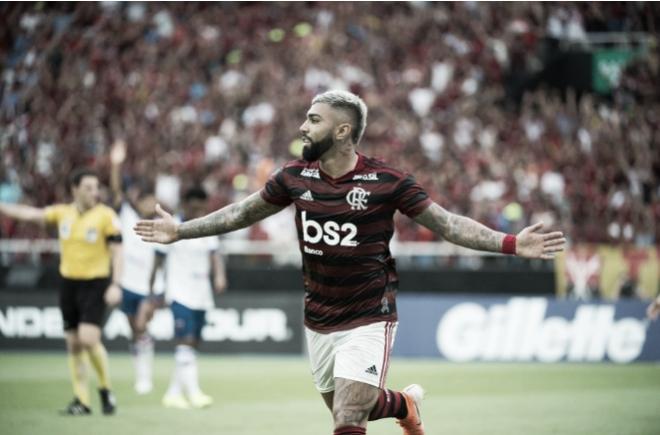 Gabigol marca duas vezes e Flamengo vence Fortaleza no Nilton Santos
