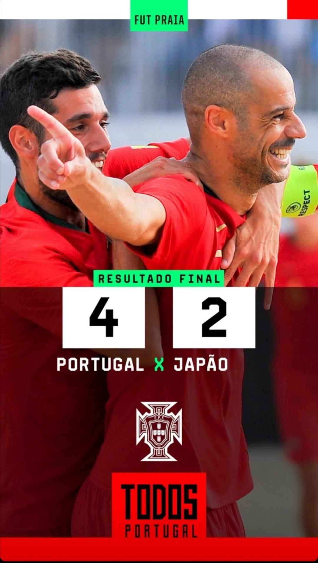 Portugal a um ponto de conquistar Mundialito