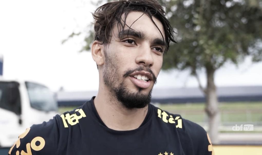 Paquetá se diz feliz ao rever amigos da base do Flamengo na Seleção Brasileira
