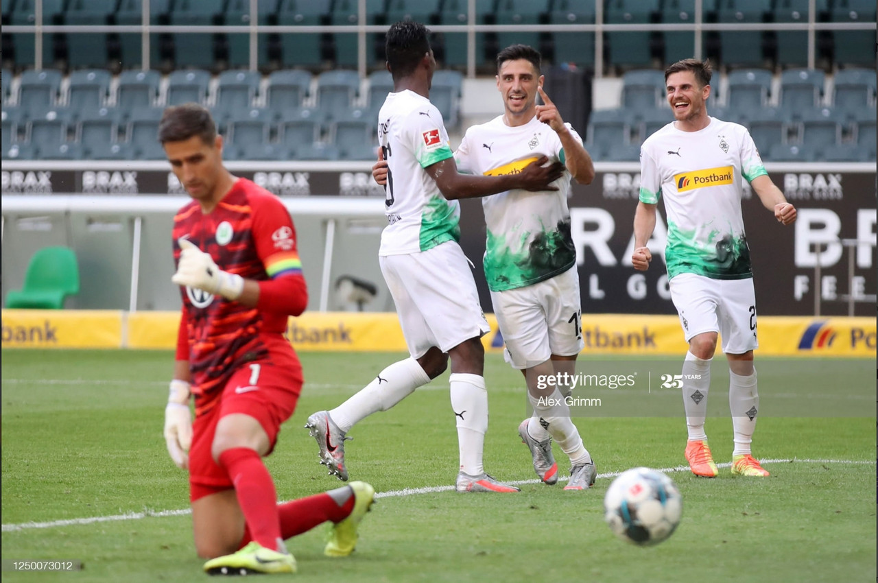 Gladbach will be looking to replicate last seasons victory/Photo via Gettyimages/Alex Grimm