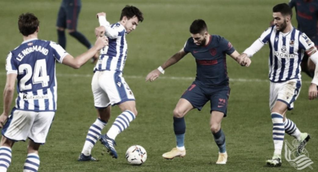 El 1x1 de la Real ante el Atlético de Madrid