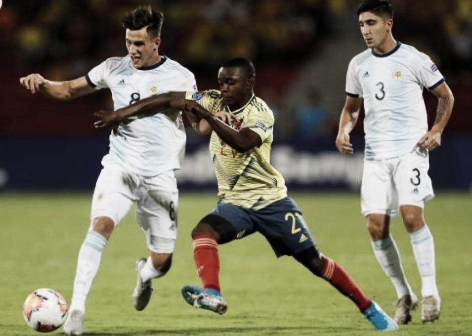 Derrota colombiana ante Argentina