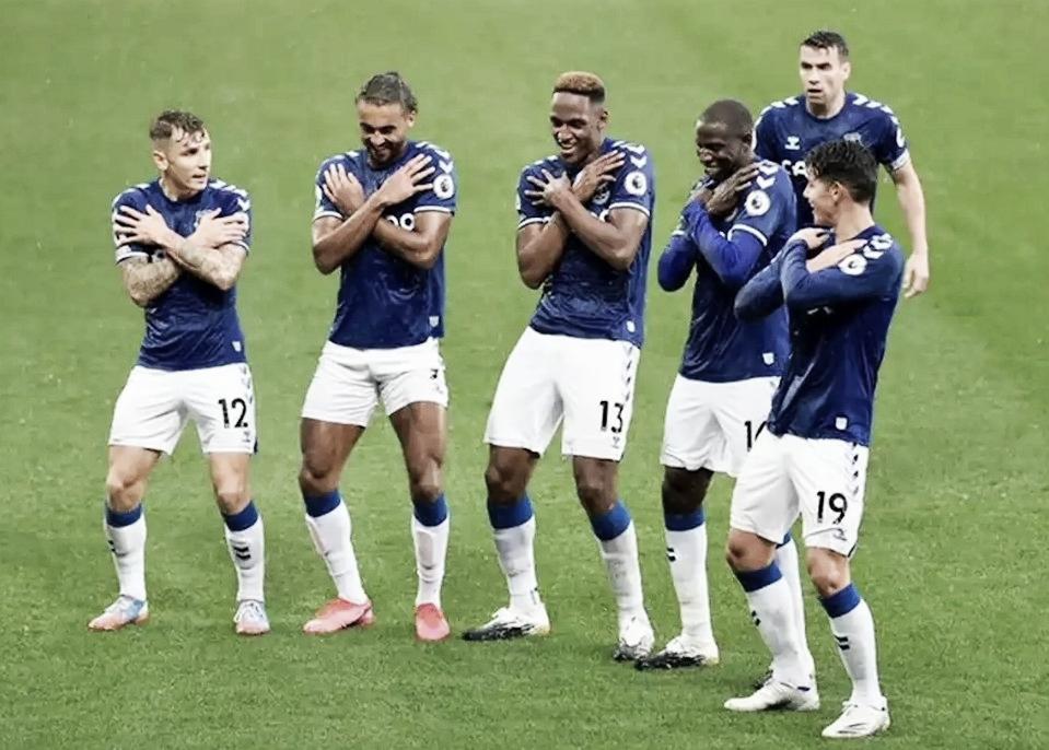 Yerry Mina y James brillaron con el Everton ante el Brighton