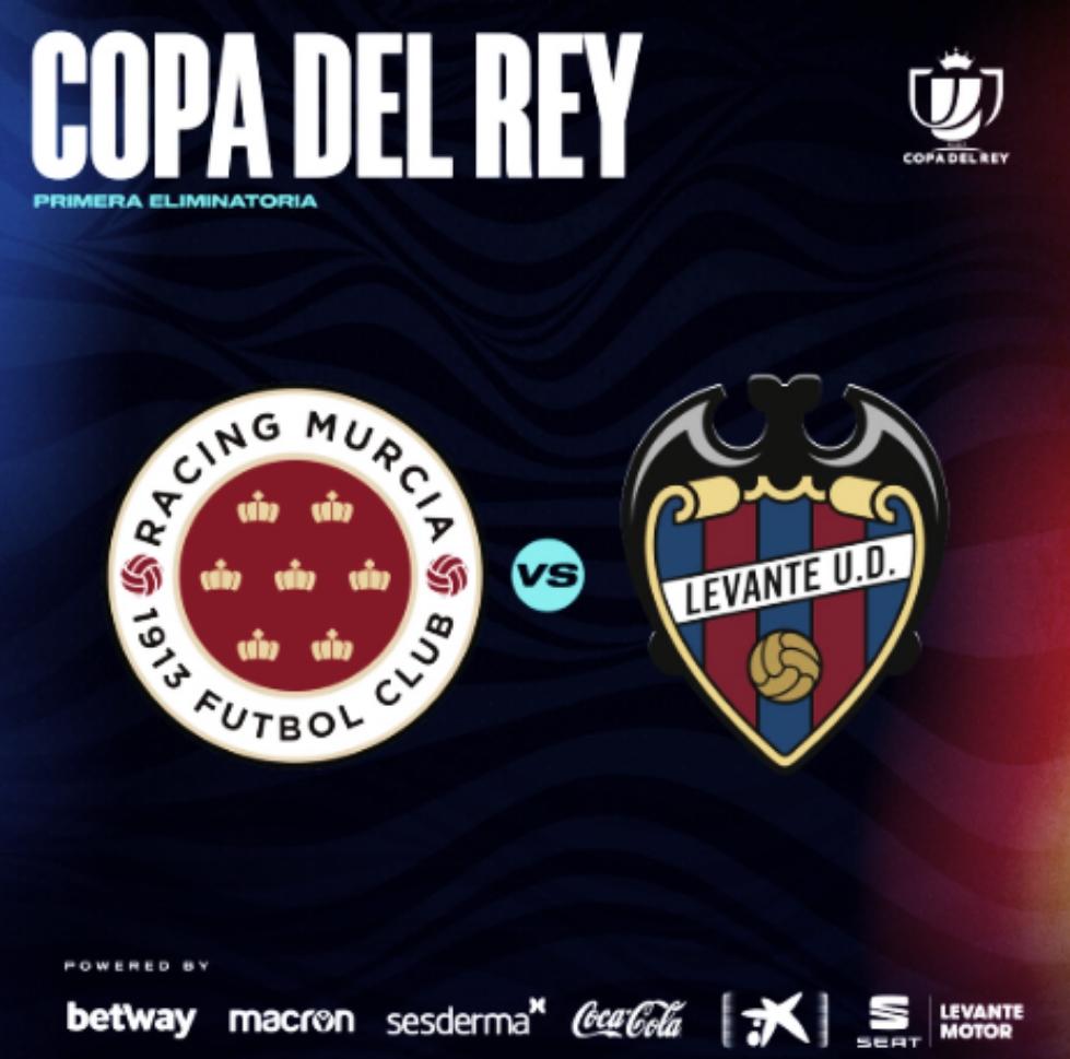 El Levante se verá las caras con el Racing Murcia en la primera eliminatoria de la Copa SM El Rey
