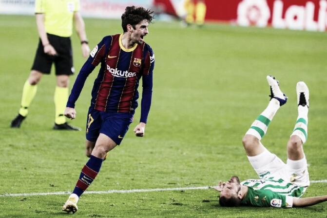 Em jogo de várias reviravoltas, Trincão decide com golaço e Barcelona supera Betis