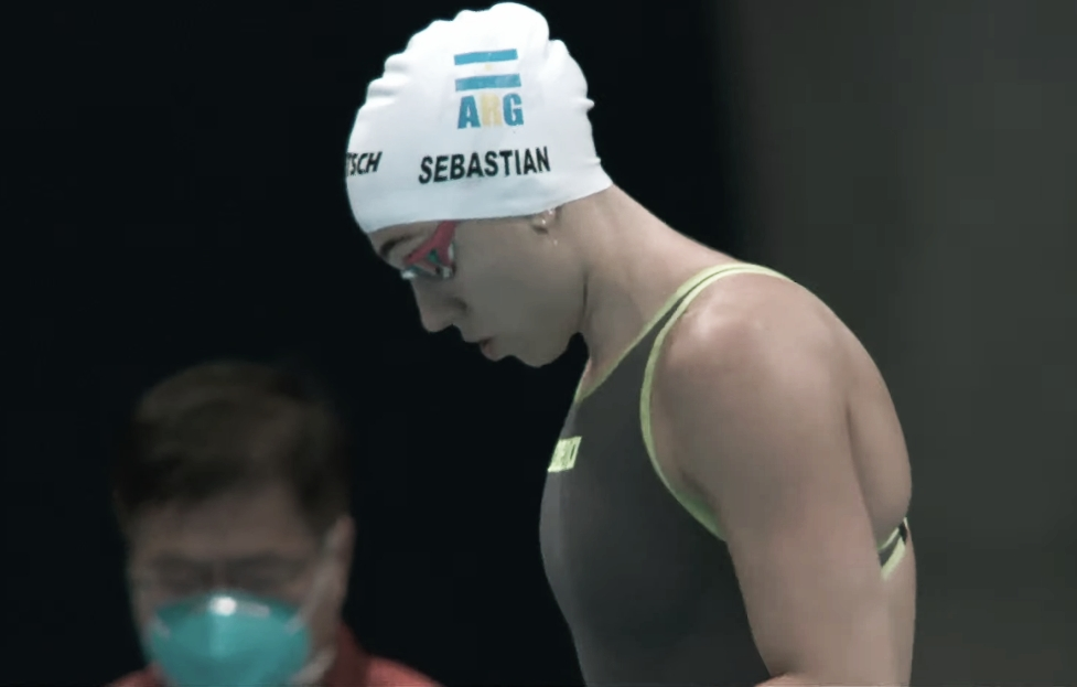 Julia Sebastián no pudo avanzar en los 100 pecho