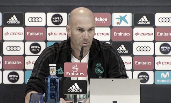 """Zidane: """"Vuelve la Copa mañana y la afrontamos con la máxima ilusión de poder pasar la eliminatoria"""""""