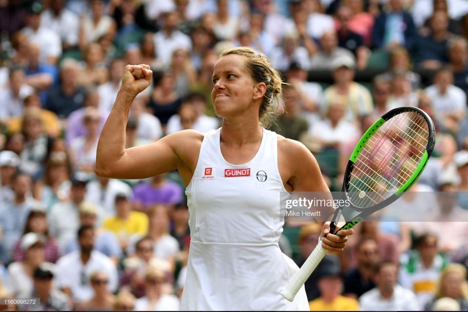 Wimbledon: Barbora Strycova rolls past Johanna Konta to reach first Grand Slam semifinal