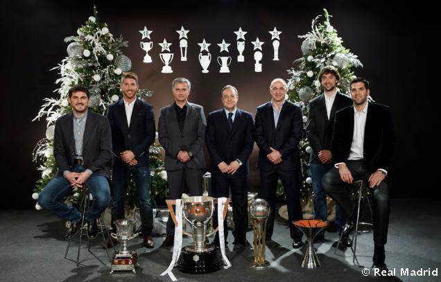 """Florentino Pérez: """"Lo mejor de este año han sido los éxitos deportivos del fútbol y baloncesto"""""""