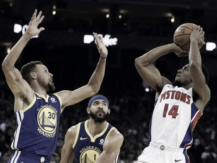 Detroit Pistons take down the reigning champs, beat Warriors 115-107