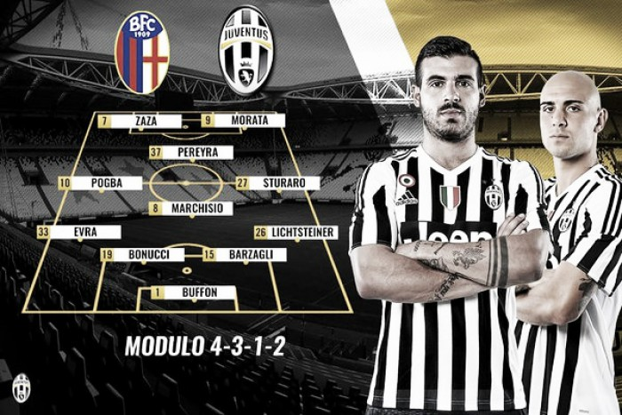 Bologna - Juventus: le formazioni ufficiali