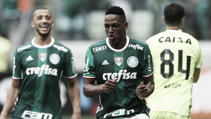 Palmeiras vence Coritiba e assegura liderança do Campeonato Brasileiro