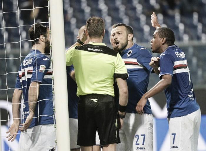 """La Sampdoria cade contro il Milan, Montella a fine partita: """"Meritavamo qualcosa in più"""""""