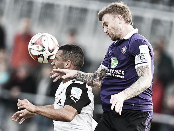 Sandhausen 1-1 Erzgebirge Aue: Hübner's header ends losing streak