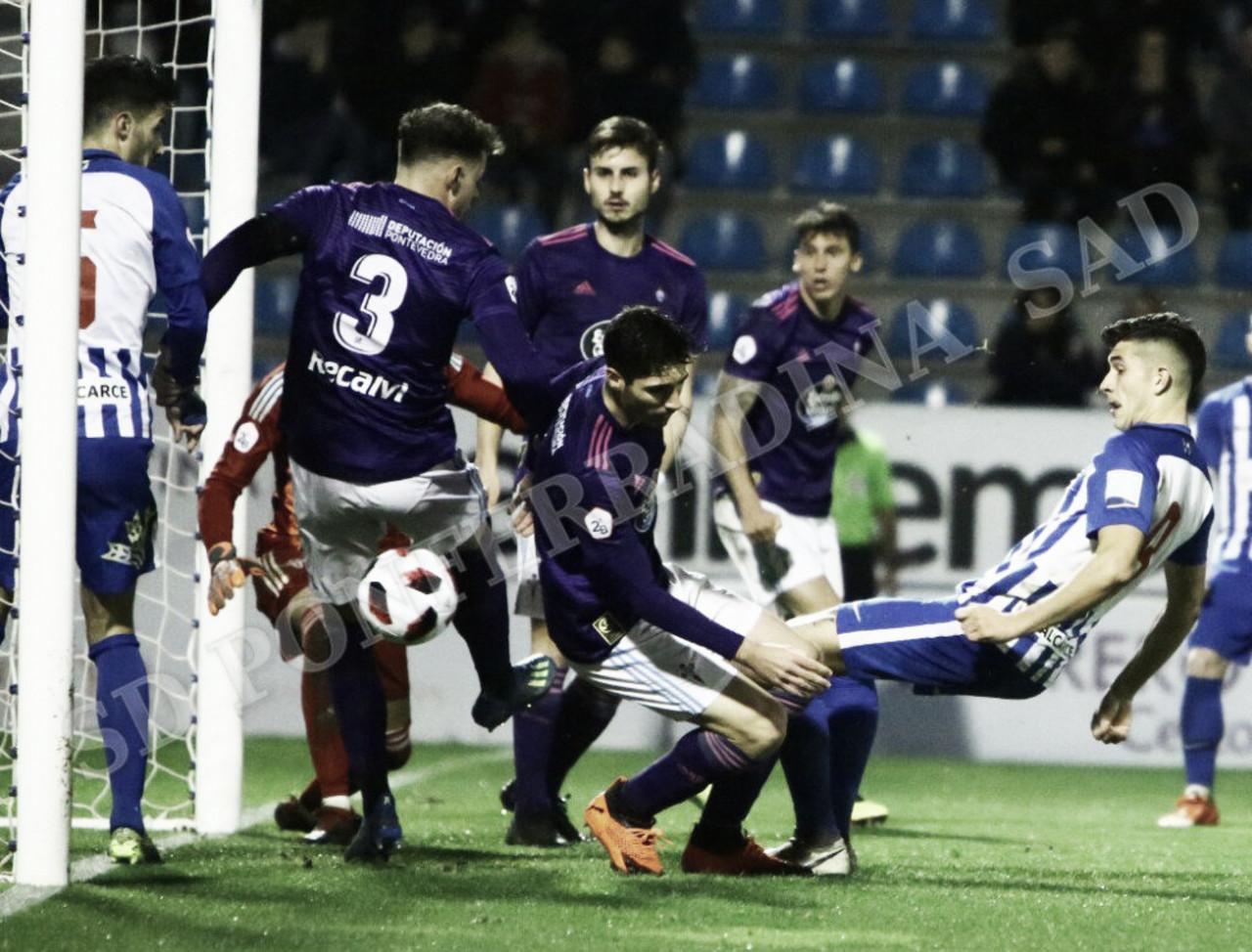 El Celta B frena a una Deportiva que nunca se da por vencida