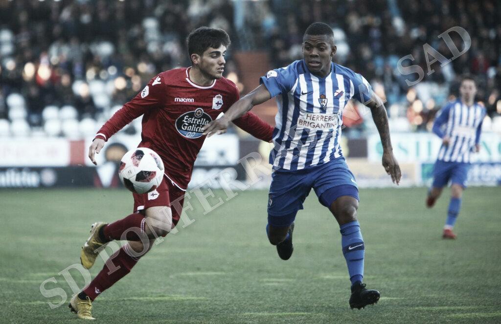 Matthieu, uno de los destacados en el triunfo de la Deportiva sobre el Fabril. FOTO | Twitter @SDP_1922