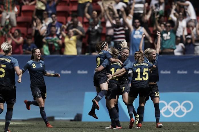 Que Zica! Suécia vence EUA nos pênaltis e avança à semifinal no futebol feminino