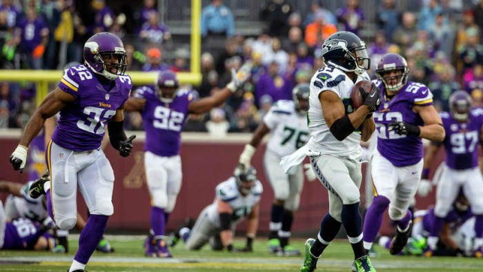 nfl playoff game results vikings vs seahawks game time